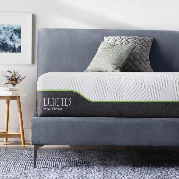LUCID 12 Inch Queen Latex Hybrid Mattress Review