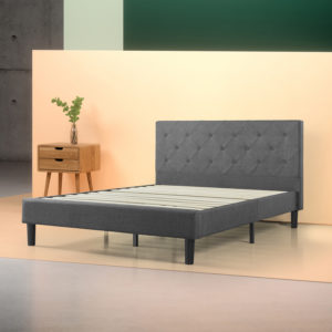 Zinus Shalini Upholstered Diamond Stitched Platform Bed Review