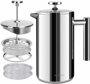 Secura Stainless Steel French Press 2020